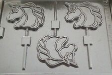 Unicorn Chocolate Mould Lollipop Lolly 3 Shapes on 1 Ideal For My Little Pony