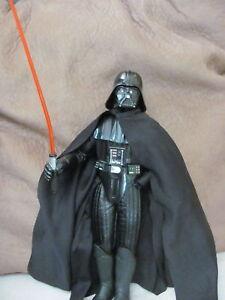 """1997 Vintage 14"""" Star Wars Darth Vader Figurine Hasbro Makes Light Saber Sound"""