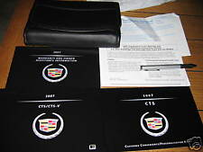 2007 CADILLAC CTS CTS-V OWNERS MANUAL OWNER'S NEW SEALED SET