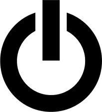 Potencia en botón Etiqueta Auto calcomanía - 10 Cm X 10 Cm
