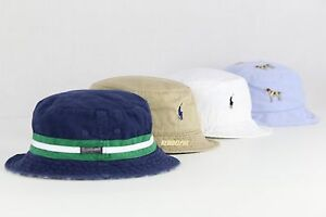 NWT POLO RALPH LAUREN Men's & Women's Pony Beachside Bucket Hat Cap S/M, L/XL