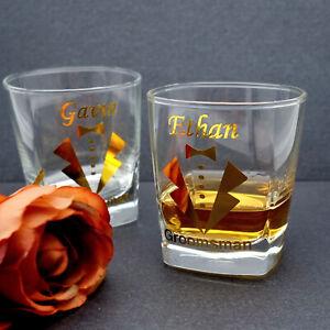 Personalised Whiskey Glass Groomsmen Whiskey Glasses Groom Best Man Gift Favour
