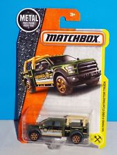 Matchbox 2017 MBX Explorers Series #47 '15 Ford F-150 Contractor Truck Grey