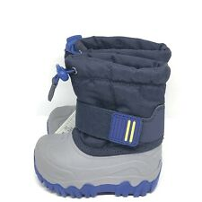 Cat & Jack Toddler Size 4 Boys Navy Blue & Gray Snow Boots Snowboots Thermolite