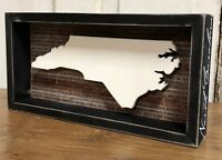 """NORTH CAROLINA State """"Favorite Place"""" Primitives by Kathy Box Sign, 6"""" x 12"""""""