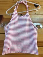Lilly Pulitzer Halter Top Pink Striped Shirt Girls Size 6X
