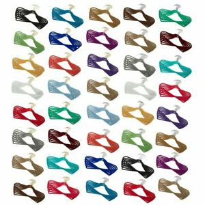 """""""As Is"""" Joy Mangano Huggable Hangers 40-Piece Male Pack Brass or Chrome"""