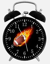 "American Football Alarm Desk Clock 3.75"" Room Decor E81 Nice for Gifts Quality"