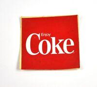 Vintage Coca-Cola Coke USA kleiner Aufkleber Sticker Decal