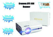 Crenova XPE 496 Mini Beamer 2018 verbesserte +80% Lumen 1080P Full HD WIE NEU