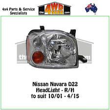 HEADLIGHT suit NISSAN NAVARA D22 R/H RIGHT DRIVER SIDE  2001-2015 ADR COMPLIANT