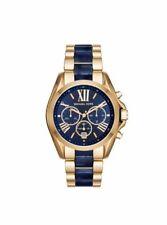 Michael Kors MK6268 Bradshaw Gold Blue Dial Chrono Unisex 43mm Men's Watch