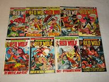 RED WOLF 1-9 MARVEL 1972