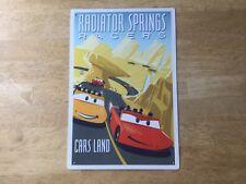 Disney Parks Tin Sign Radiator Springs Racers Cars Land Disney/Pixar