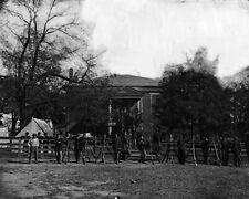 New 8x10 Civil War Photo: Federal Soldiers at Courthouse in Appomattox, VA