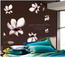Wandtattoo Magnolie Blumen Wandaufkleber Wand sticker Wohnzimmer Deco 9196