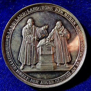1830 German State Prussia Reformation medallic Thaler 300th Anniversary Augsburg