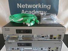 Cisco 1941/K9 Router 256F/512D 15.2 IOS HWIC-8A CAB-HD8-ASYNC 1DSU 1-YR WARRANTY