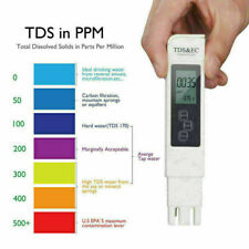 3in1 Digital TDS EC TEMP Meter Water Quality Tester 0-9990 ppm Filter Purity Pen
