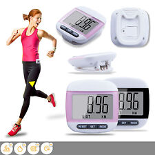 Mini LCD Digital Walking Pedometers Step Distance Calorie Counter Fitness