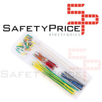 Kit 140 Cables Jumper Puente Macho con caja cable rigido Protoboard Breadboard