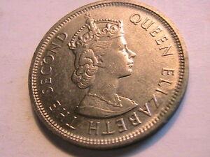 1960 Hong Kong China Dollar Ch AU Lustrous British Asia Queen Elizabeth II Coin