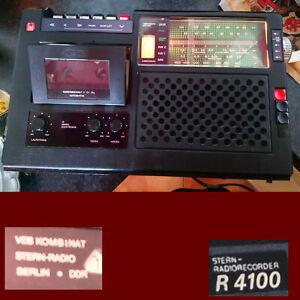 Stern Radiorecorder DDR RFT R4100  Ersatzteile Spender , für BASTLER / DEFEKT