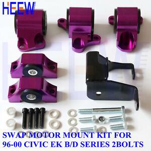 ENGINE TORQUE MOTOR MOUNT KIT BRACKET EK 2bolt FOR 96-00 HONDA CIVIC D16 B16 B18