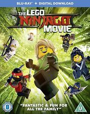 The Lego Ninjago Movie (Blu Ray) plus digital ultraviolet download  - BRAND NEW