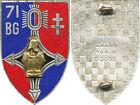 71° Bataillon du Génie, croix d'Agadès plate, émail, 2 anneaux, Drago 2032(4738)