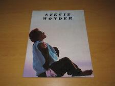 Stevie Wonder Tour Programme            (Promo)