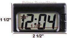 Black Digital Big Digit Clock Large LCD Display Car-RV-Boat Interior Dash Mount
