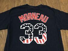 Justin Morneau Minnesota Twins USA Stars & Stripes Patriotic Medium Navy T Shirt