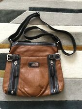 Soft Tan BESSIE Shoulder Bag Vgc  Little Use Lots Of Compartments