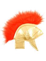 Roman Greek Hat Helmet Fabric Gladiator Childrens & Adult Fancy Dress Accessory