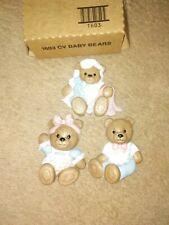 3 Nursery Dress Up 3D Baby Bears Home Interior Homco Wall Plaque Art Childrens.