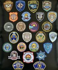 American US Tribal Police Force Badge Patches - Collection Of 25