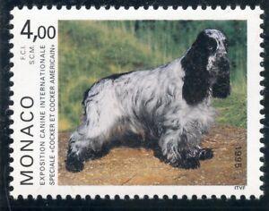 TIMBRE DE MONACO N° 1980 ** FAUNE / CHIEN / COCKER SPANIEL