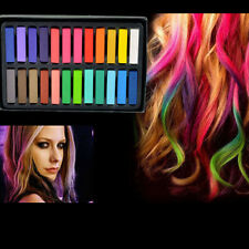 12 /24 Color Non-toxic Temporary Salon Kit Pastel Square Hair Chalk With Box Hot
