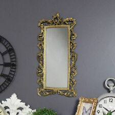 Espejos decorativos rectangulares dorado para el salón