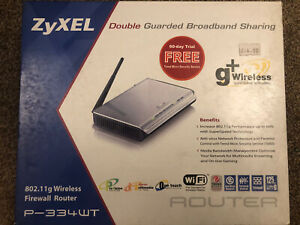 ZyXEL P-334WT EXTENDER WIFI WIRELESS ROUTER VPN FIREWALL SWITCH USB MIMO NEW