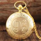 HARRY POTTER Taschenuhr 9 3/4 Plattform - HALSKETTE Farbe Gold