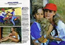 Coupure de Presse Clipping 1987 (2 pages) Ursula Andress