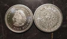 1 Unze Silber Aztekenkalender / Cuauthemoc - Maya - 1 Oz Silver Aztec Calender