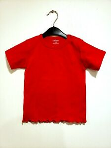 NWT T-Shirt Carlino Tee Unisex Baby Tops Size 18M Red Short Sleeves Everyday