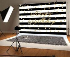 7x5ft Background Happy Birthday Shinning Dots Stripes Backdrop Photography Props