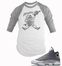 c4c8f60e8c4 Baseball T Shirt to Match Air Jordan 13 Atmosphere Grey Shoe Men BB Tee  Shirt