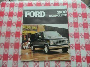 1980 Ford Econoline Vans Original Sales Brochure in Mint Condition