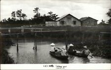 Vietnam Boating - Dong Que Country Life Real Photo Postcard