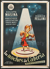 THE NIGHTS OF CABIRIA 1957 Beautiful 1 Sheet L/B Federico Fellini filmartgallery